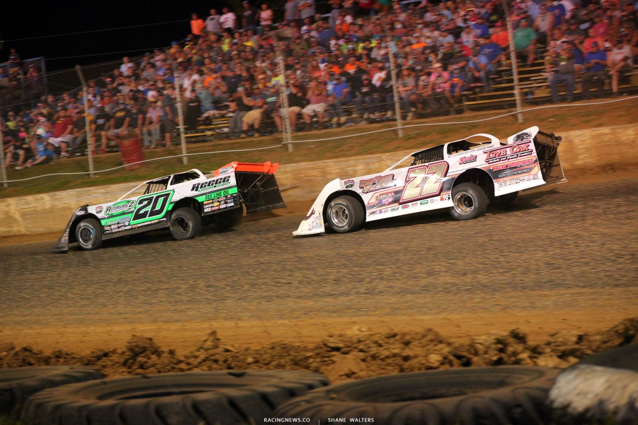 Jimmy Owens and Chris Ferguson at Florennce Speedway - North South 100 - Lucas Dirt Series 1480