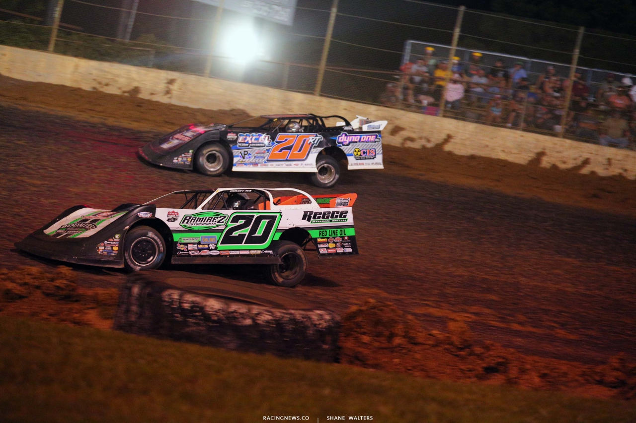 Jimmy Owens and Ricky Thornton Jr at Florence Speedway - Dirt Track Racing 1549