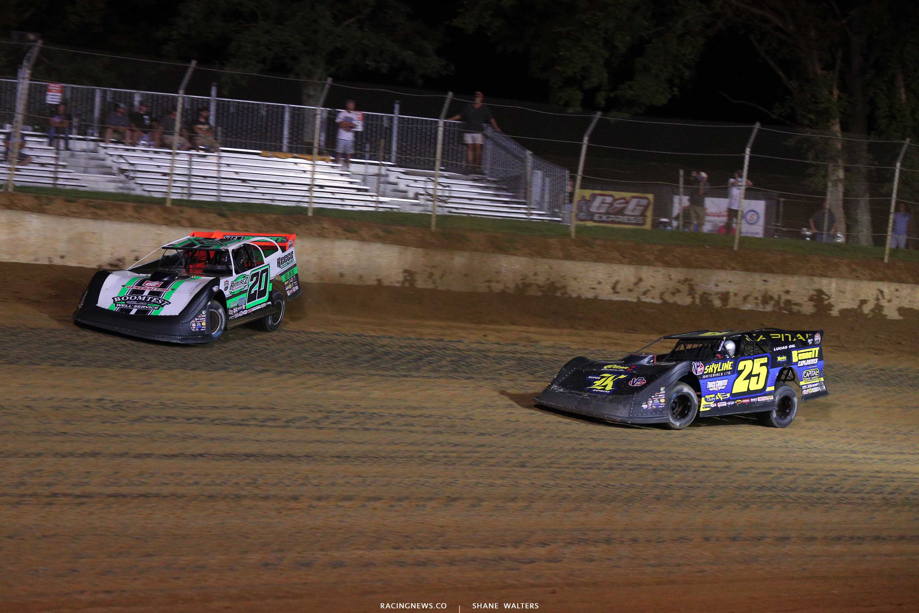 Jimmy Owens and Shane Clanton at Florence Speedway - Lucas Oil Late Model Series 0884