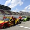 Joey Logano and Chase Elliott on the grid at Michigan International Speedway - NASCAR Cup Series