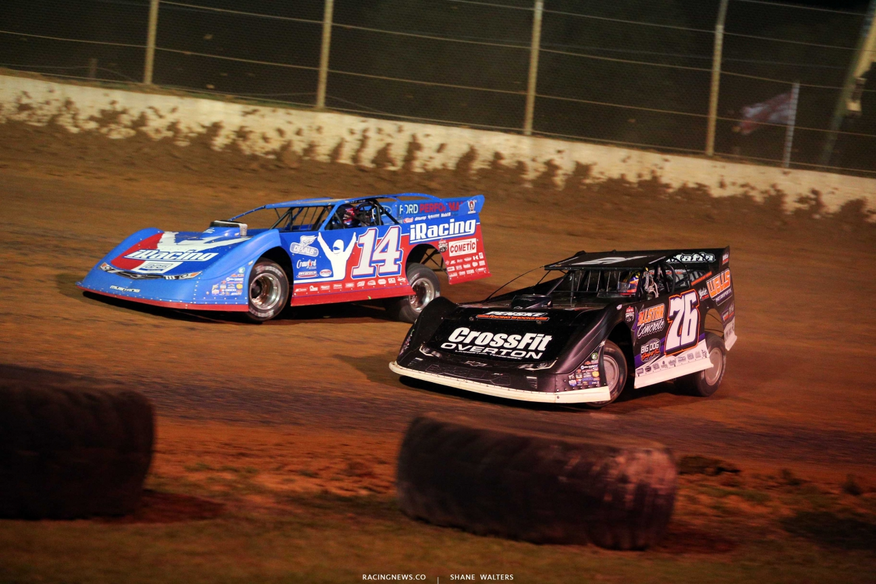 Josh Richards and Brandon Overton at Florence Speedway - Lucas Late Models - North South Shootout 1226