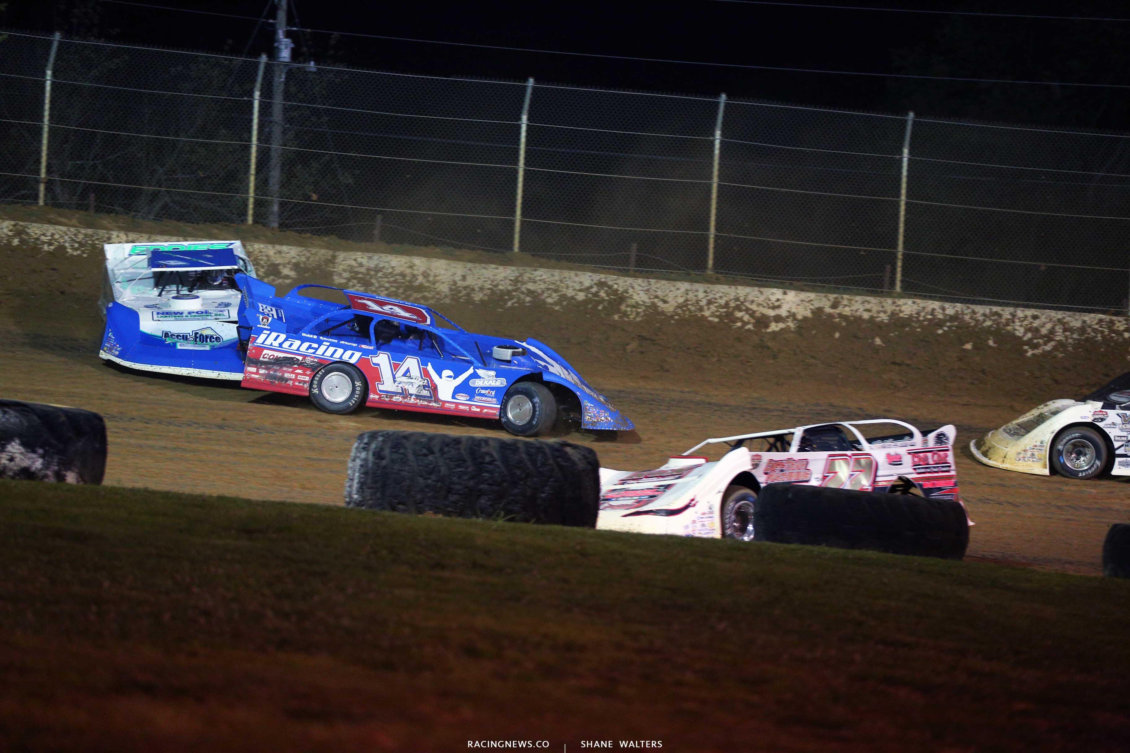 Josh Richards and Devin Moran crash at Florence Speedway - Lucas Oil Series 0855