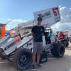 Kyle Larson - Dirt Sprint Car at Huset's Speedway