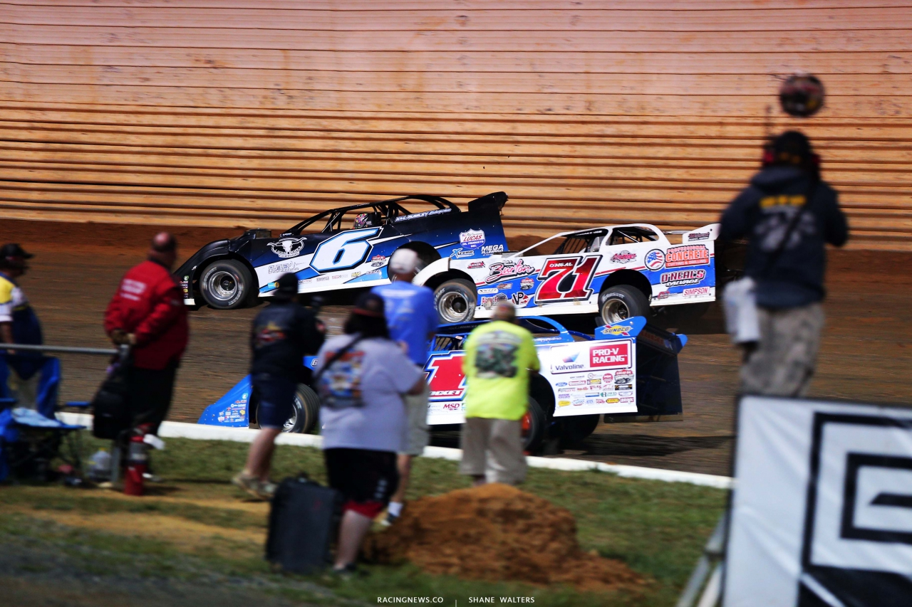 Kyle Larson, Hudson O'Neal and Brandon Sheppard at Port Royal Speedway - Dirt Late Model Racing - Lucas Series 2849