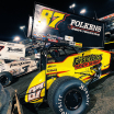 Kyle Larson and Aaron Reutzel at Knoxville Raceway - World of Outlaws