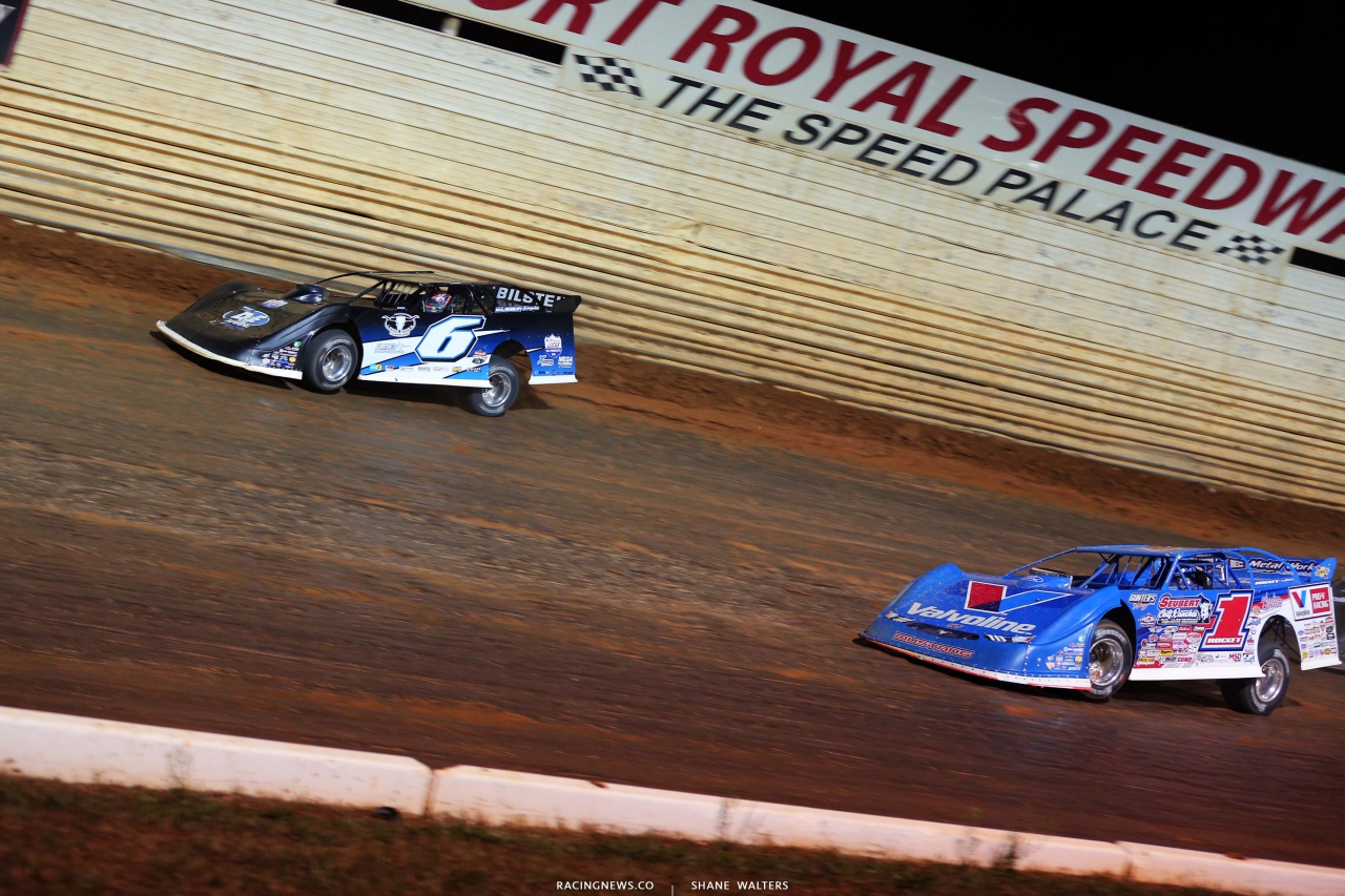 Kyle Larson and Brandon Sheppard at Port Royal Speedway - Dirt Track Racing 2888