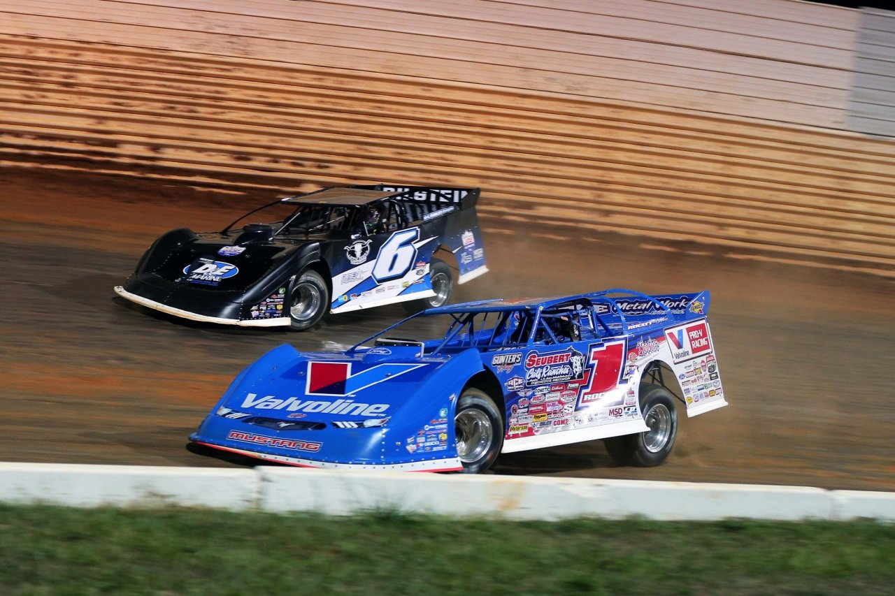 Kyle Larson and Brandon Sheppard at Port Royal Speedway - Lucas Oil Late Model Dirt Series 2765