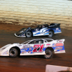 Kyle Larson and Hudson O'Neal at Port Royal Speedway - Lucas Oil Late Model Dirt Series 2782