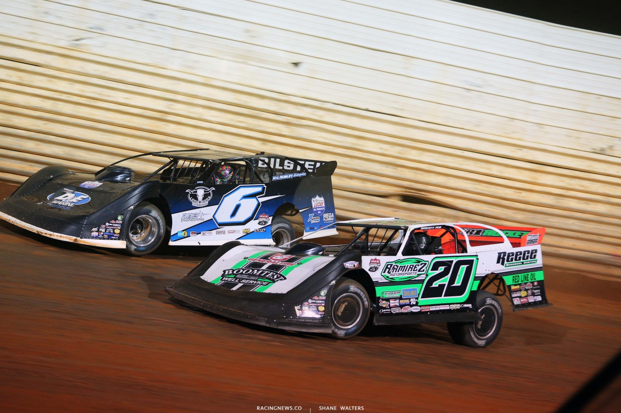 Kyle Larson and Jimmy Owens at Port Royal Speedway - Lucas Oil Late Model Dirt Series 2568