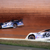 Kyle Larson and Jonathan Davenport at Port Royal Speedway - Lucas Oil Late Model Dirt Series 2359