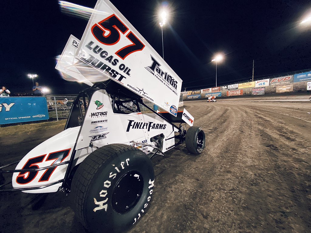Kyle Larson at Knoxville Raceway - World of Outlaws Sprint Car Series