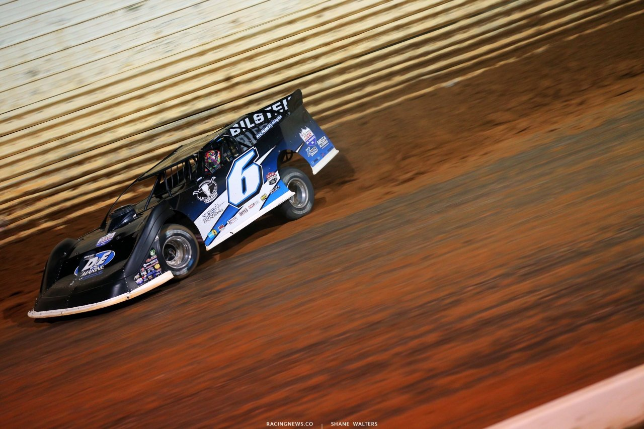 Kyle Larson at Port Royal Speedway - Lucas Late Model - Dirt Track Racing 2402