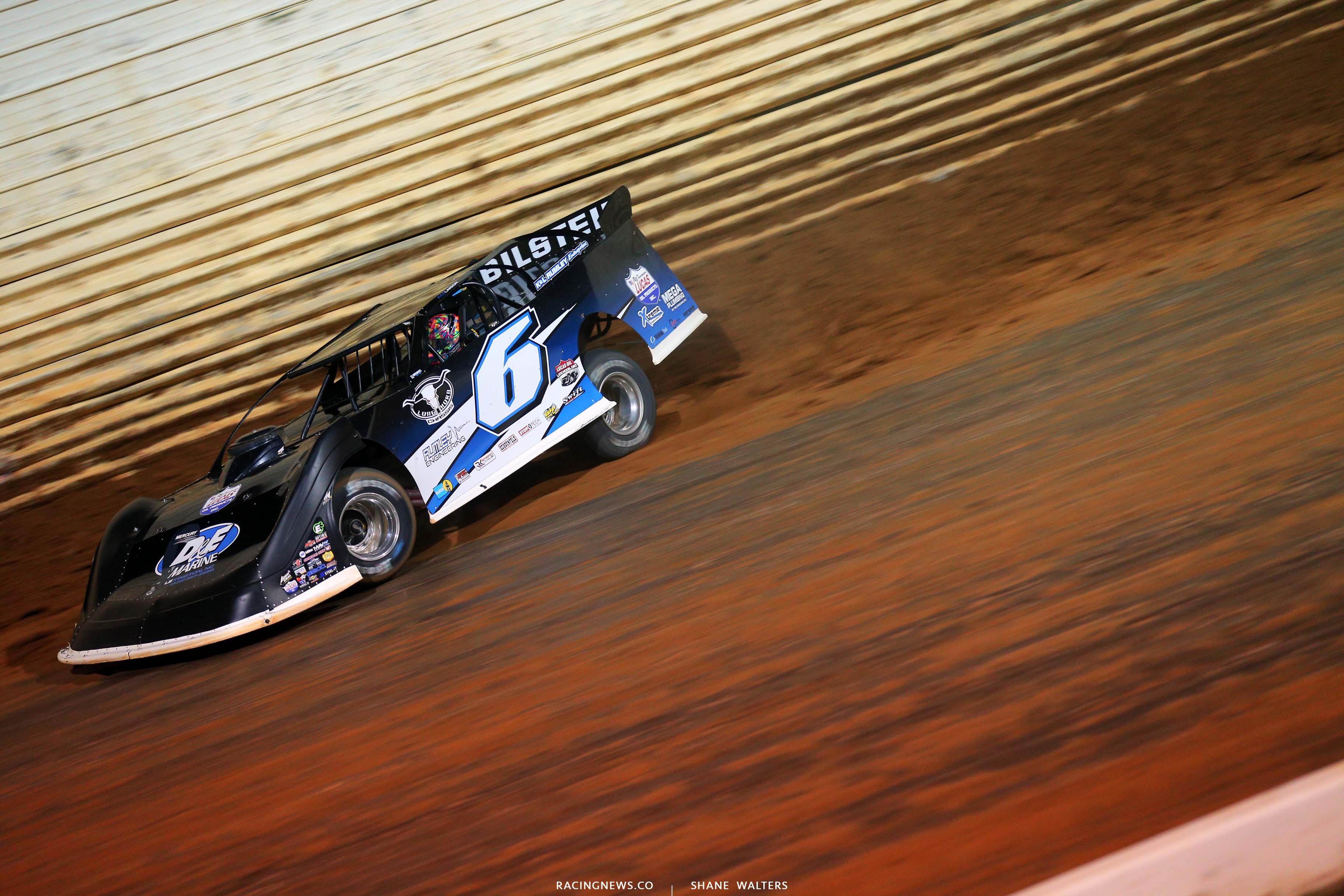 Kyle Larson at Port Royal Speedway - Lucas Late Model - Dirt Track Racing 2402