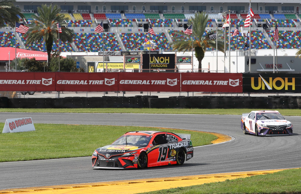 Martin Truex Jr and Denny Hamlin on the Daytona Road Course - NASCAR Cup Series