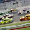 Matt DiBenedetto, Denny Hamlin, Kyle Busch, Joey Logano and John Hunter Nemechek at Daytona International Speedway - NASCAR Cup Series