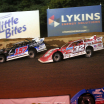 Mike Marlar and Bobby Pierce on the cushion at Florence Speedway - Lucas Oil Series 1598