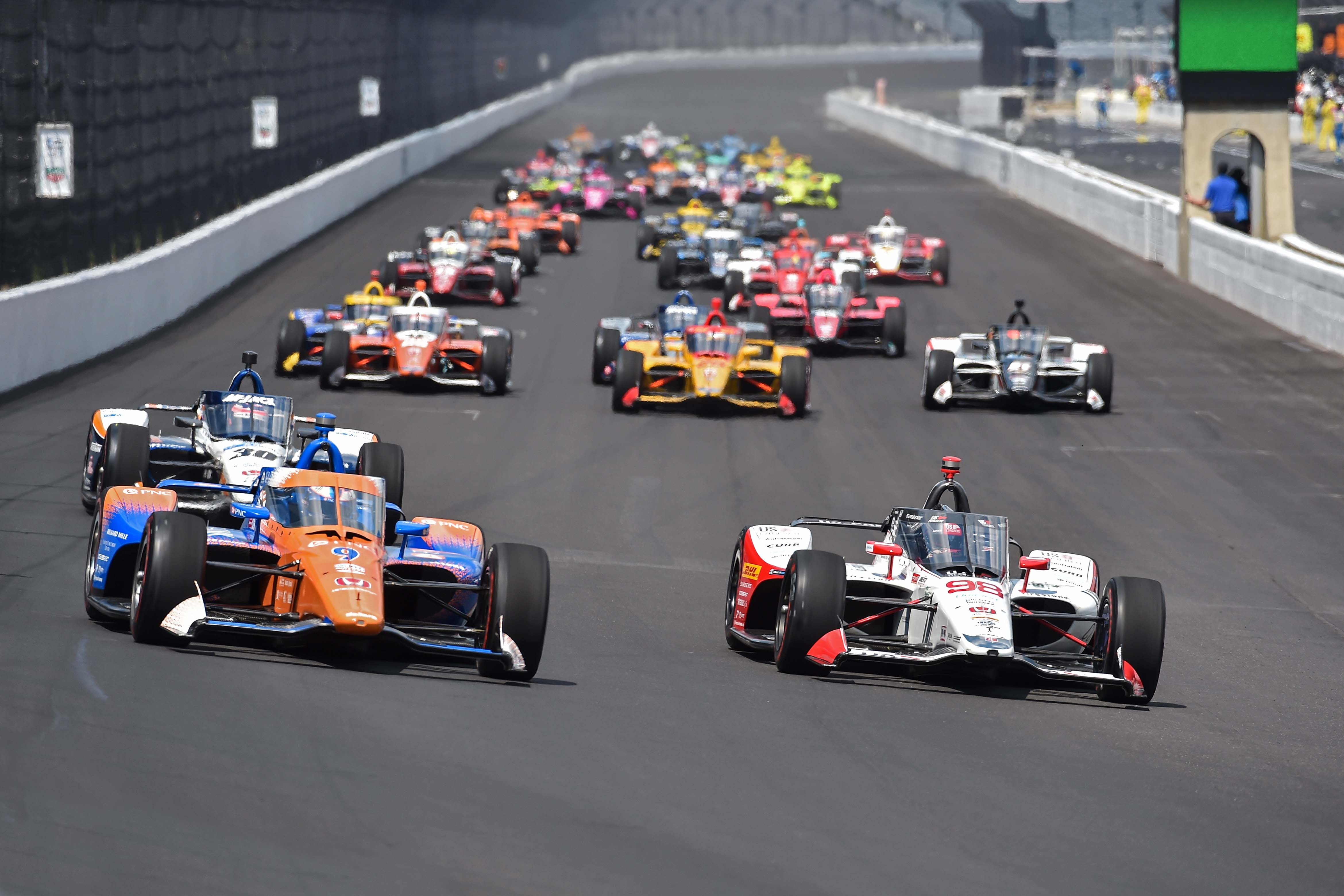 Scott Dixon and Marco Andretti - Indy 500 at Indianapolis Motor Speedway - Indycar Series