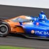 Scott Dixon at the Indianapolis Motor Speedway - Indycar Series Aeroscreen