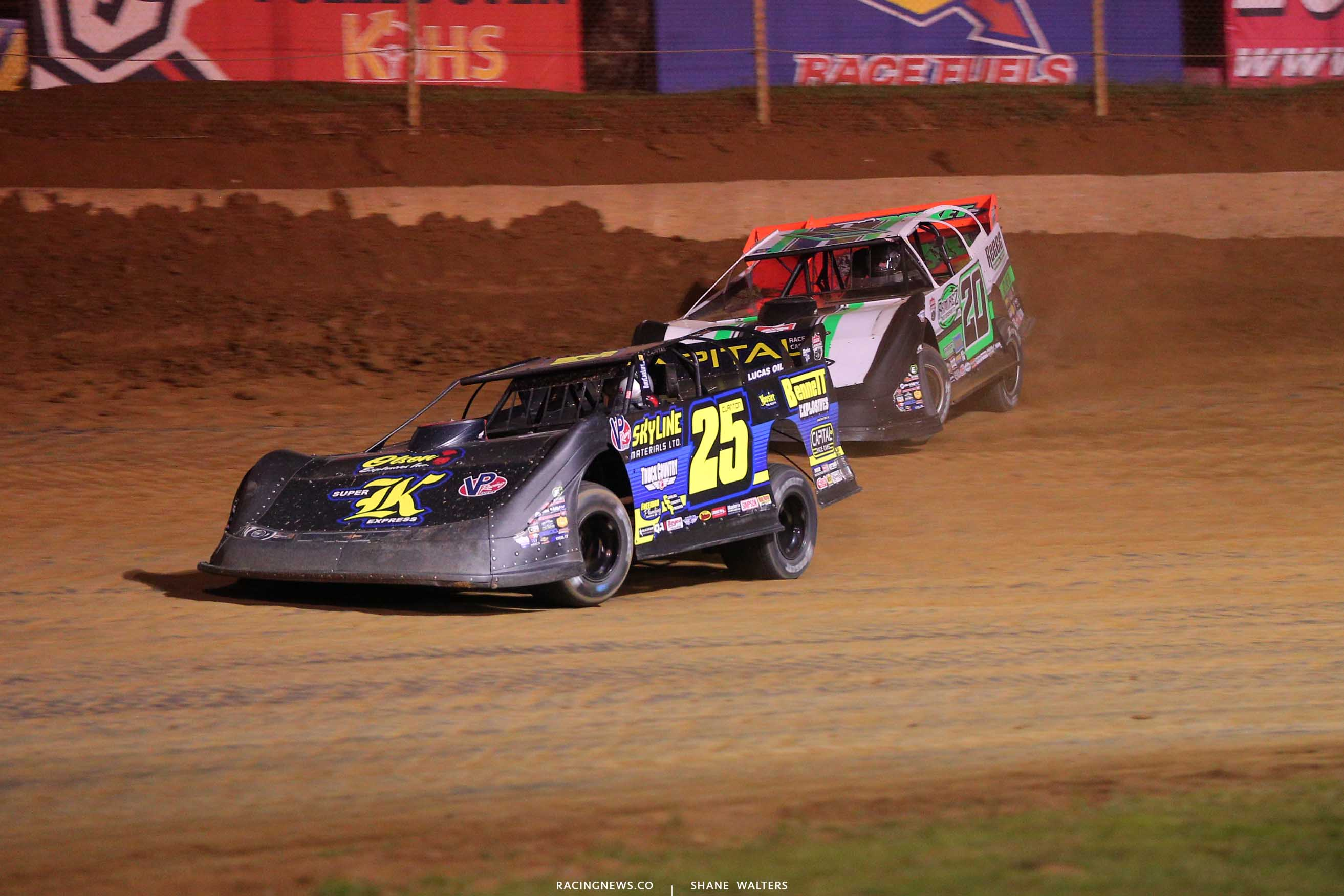 Shane Clanton and Jimmy Owens at Florence Speedway - Dirt Track Racing 0877