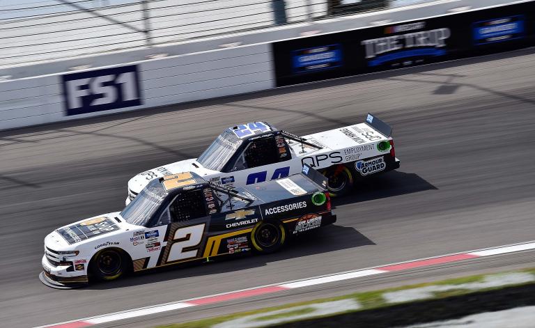Sheldon Creed and Sam Mayer at WWT Raceway at Gateway