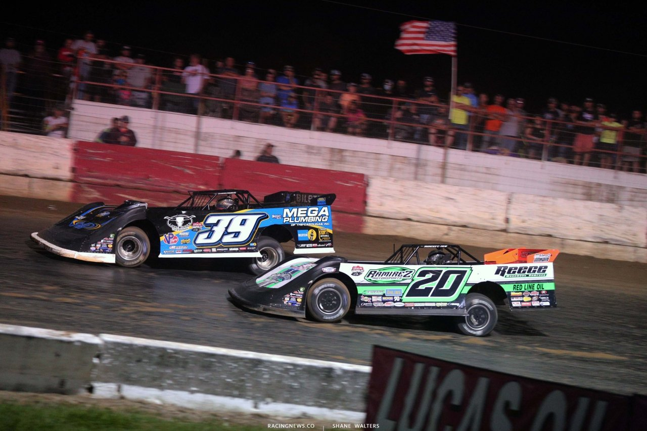 Tim McCreadie and Jimmy Owens at Batesville Motor Speedway - Topless 100 - Lucas Oil Late Model Dirt Series 1836