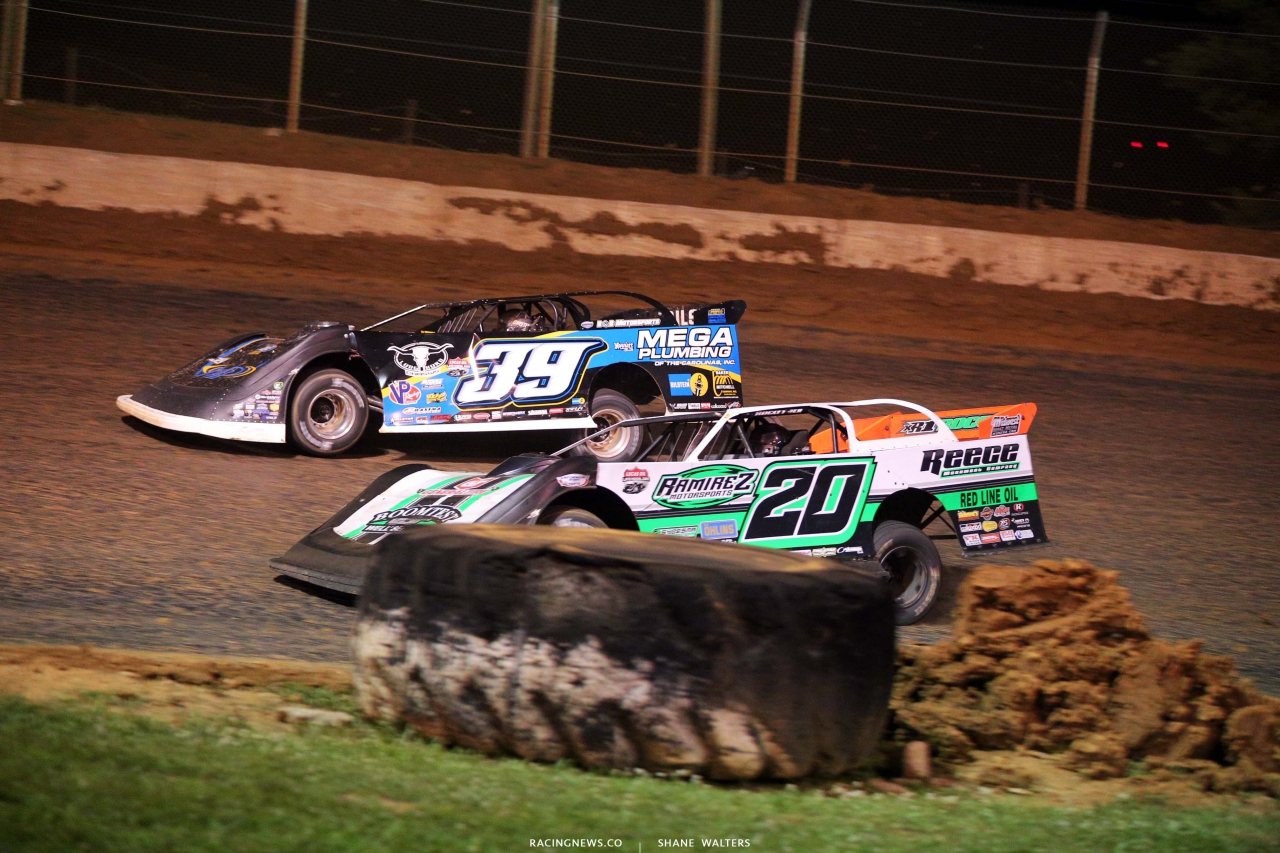 Tim McCreadie and Jimmy Owens at Florence Speedway - Lucas Dirt Series 1644