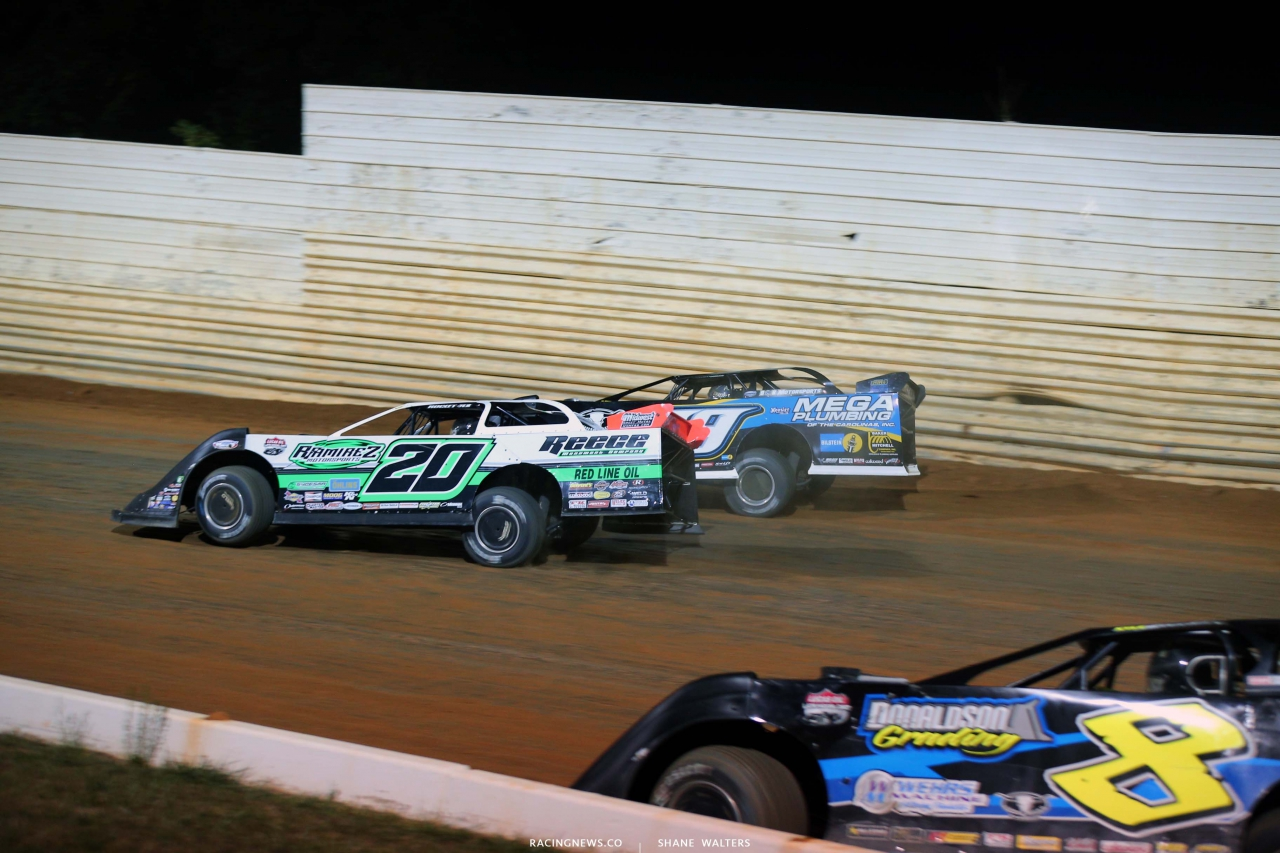 Tim McCreadie and Jimmy Owens at Port Royal Speedway - Lucas Series - Dirt Late Model Racing 2532