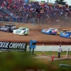 Tyler Erb, Scott Bloomquist, Kyle Bronson, Billy Moyer Jr and Ricky Thornton Jr at Florence Speedway - Lucas Oil Late Models 0960