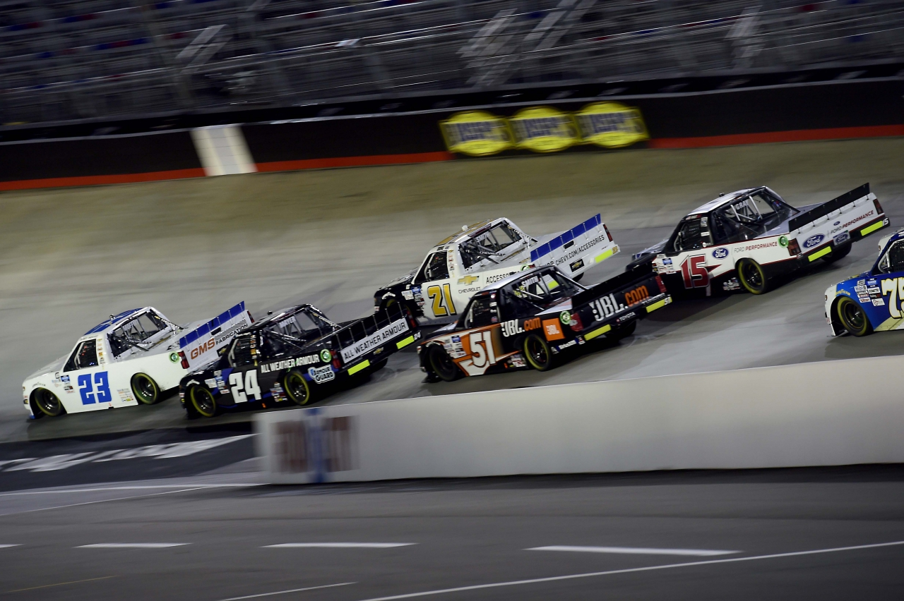 Brett Moffitt and Sam Mayer - Bristol Motor Speedway - NASCAR Truck Series
