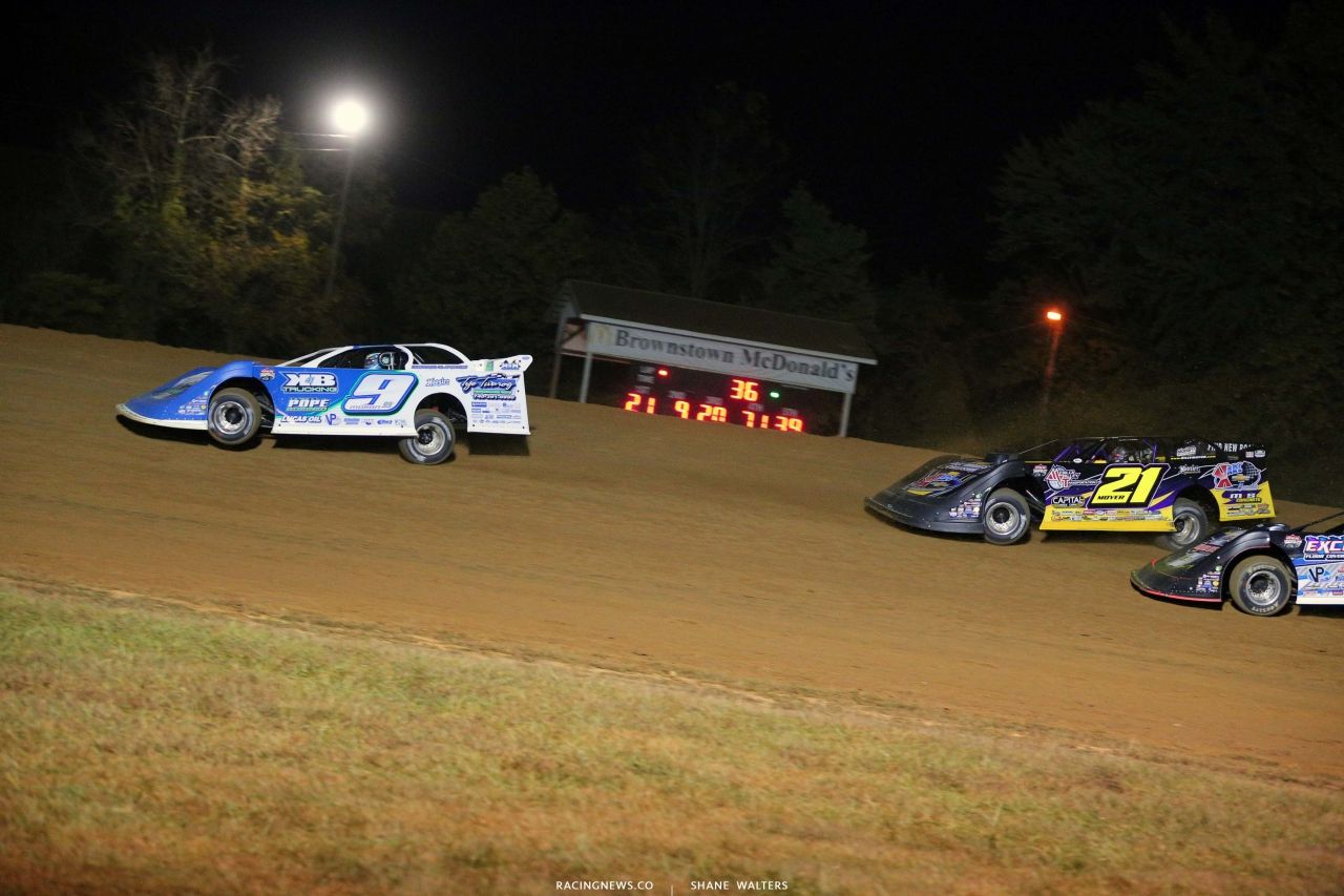 Devin Moran and Billy Moyer Sr - Dirt Track Racing - Lucas Late Models 4221