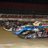 Four wide salute at Eldora Speedway - Dirt Late Models