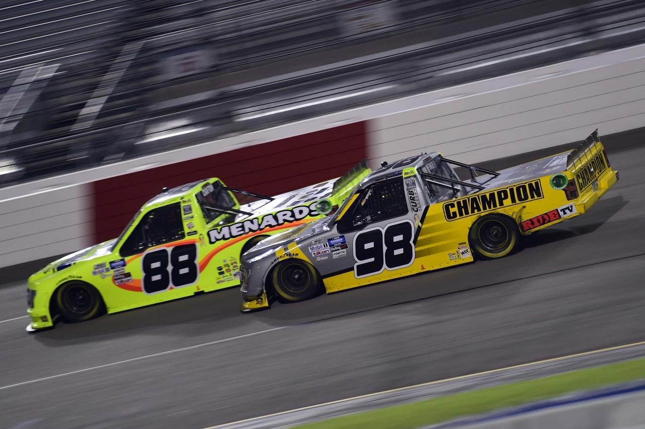 Grant Enfinger and Matt Crafton at Richmond Raceway - NASCAR Truck Series