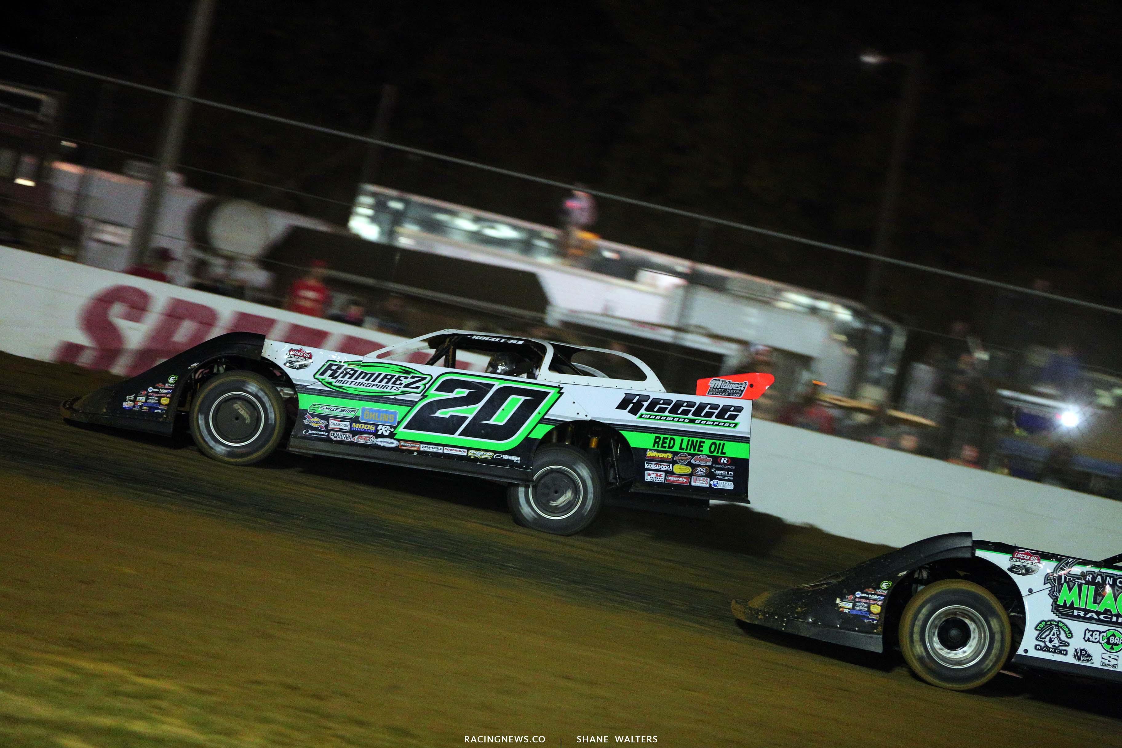 Jimmy Owens at Brownstown Speedway - Dirt Late Model Racing - Lucas Dirt 4271