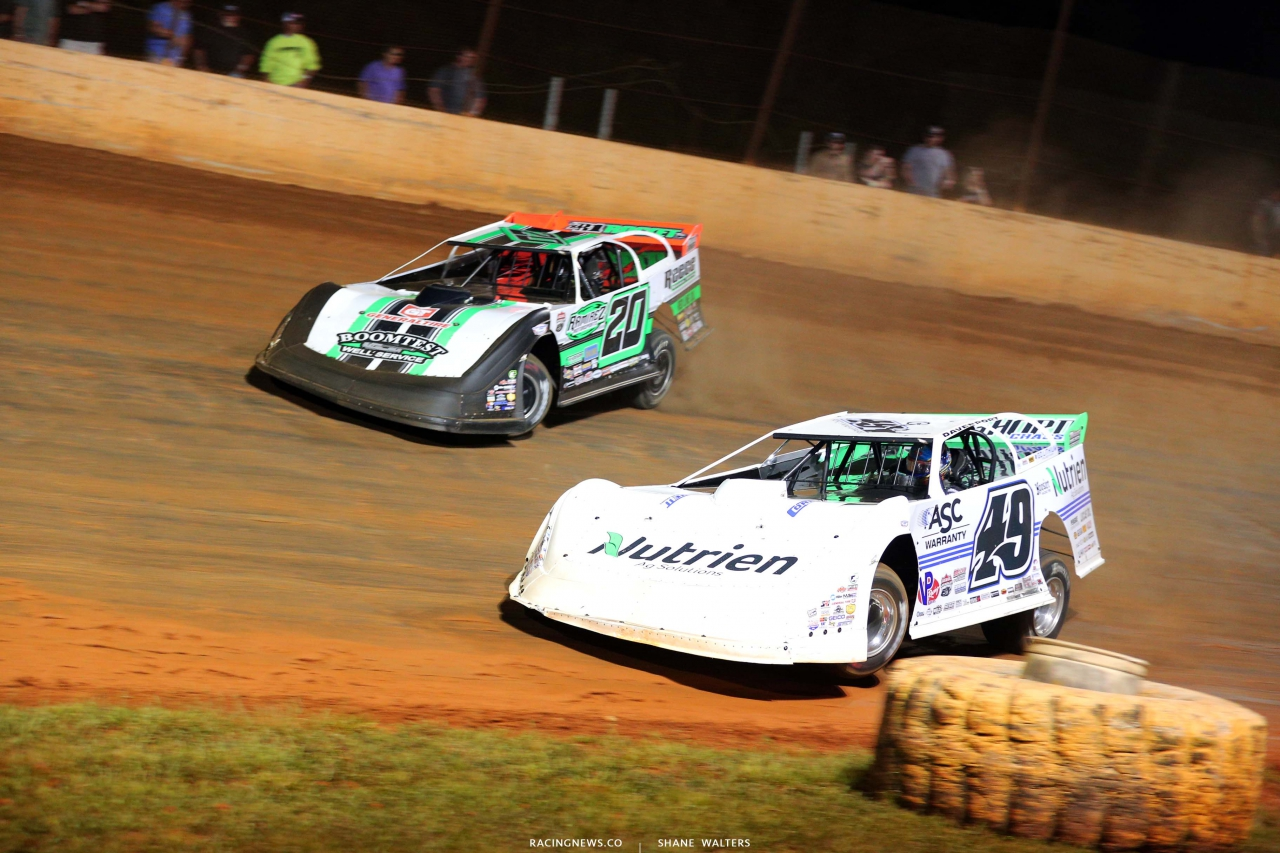 Jonathan Davenport and Jimmy Owens at Ponderosa Speedway - Lucas Late Models 3006