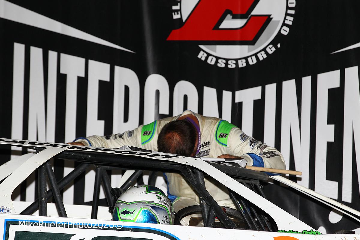 Jonathan Davenport in victory lane at Eldora Speedway