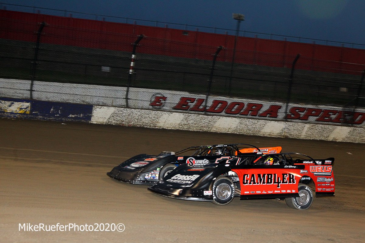 Josh Rice and Brandon Overton at Eldora Speedway