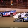 Josh Richards, Jonathan Davenport and Shane Clanton at Portsmouth Raceway Park - Lucas Oil Series 3297