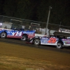 Josh Richards and Ricky Thornton Jr at Brownstown Speedway - Lucas Oil Late Model Dirt Series 4308