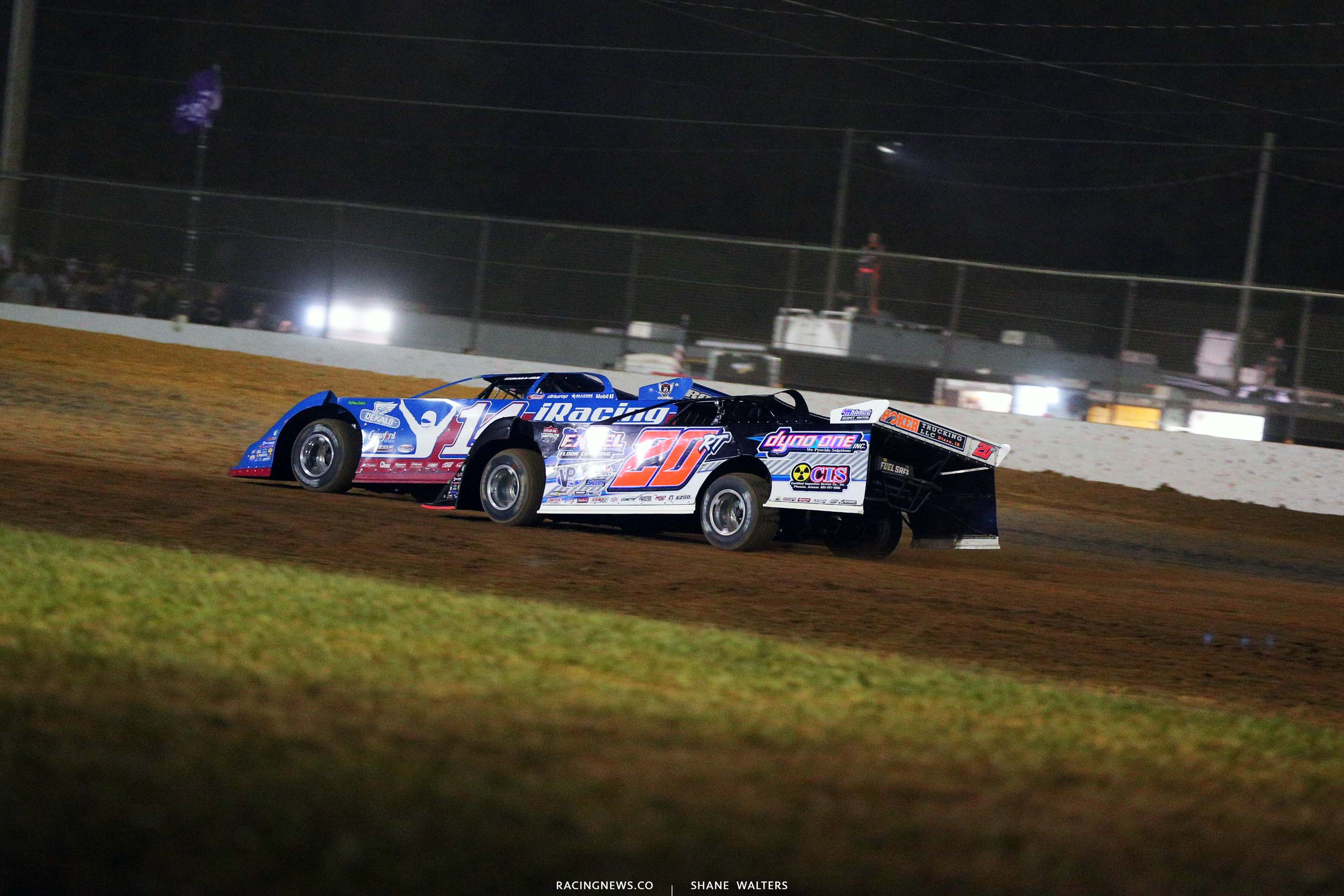 Josh Richards and Ricky Thornton Jr at Brownstown Speedway in Indiana - Lucas Oil Series 4249