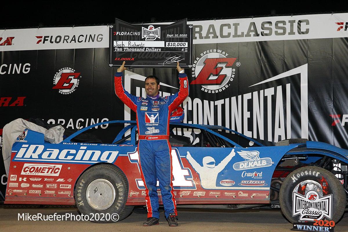 Josh Richards in victory lane at Eldora Speedway