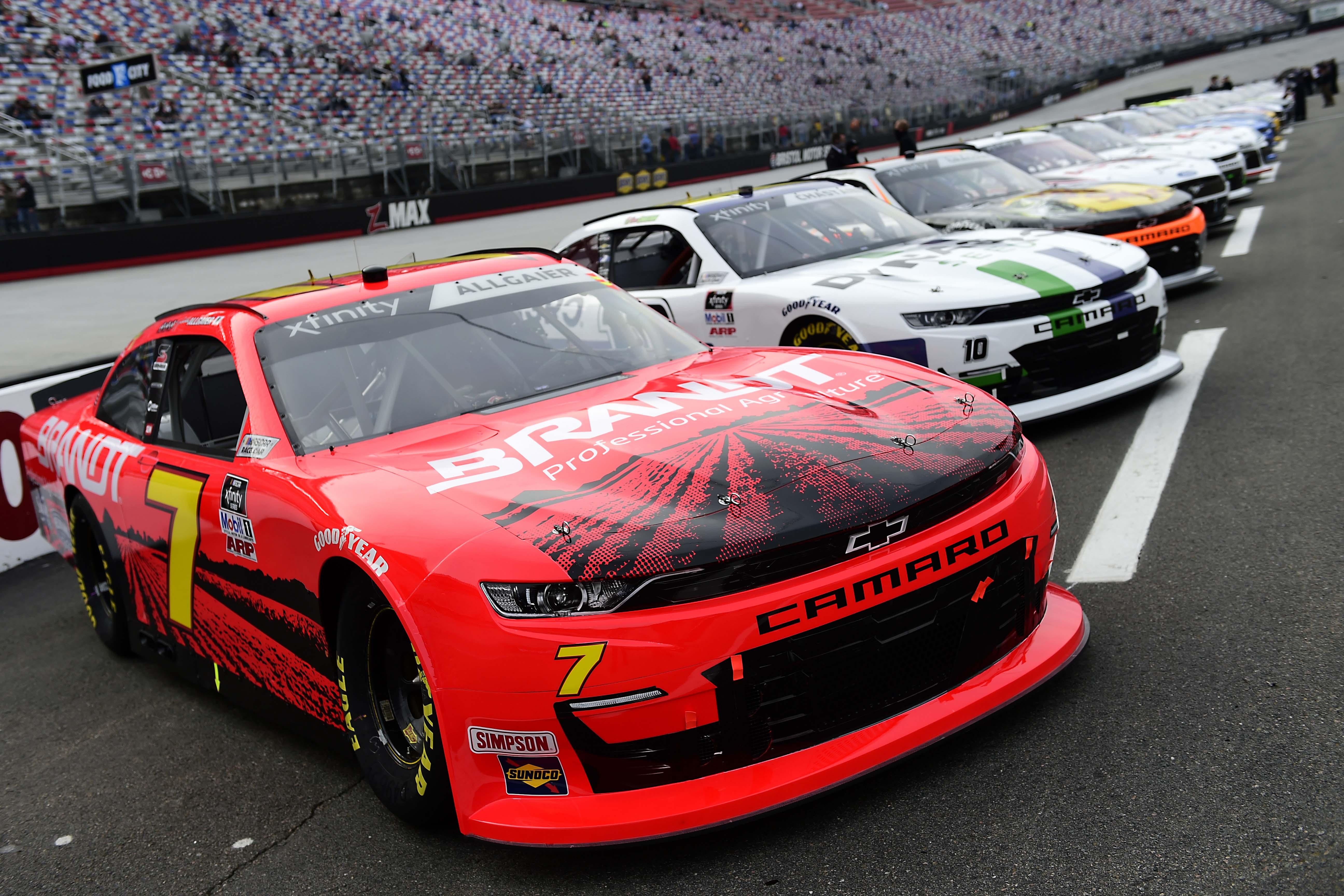 Justin Allgaier - NASCAR Xfinity Series grid at Bristol Motor Speedway