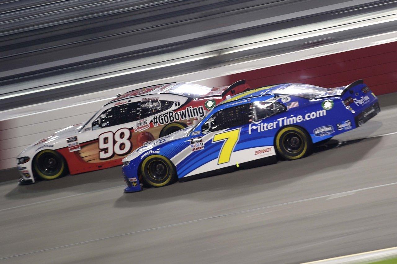 Justin Allgaier and Chase Briscoe at Richmond Raceway - NASCAR Xfinity Series