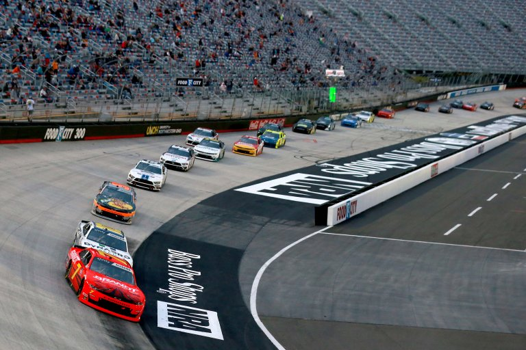 Justin Allgaier and Ross Chastain at Bristol Motor Speedway - NASCAR Xfinity Series