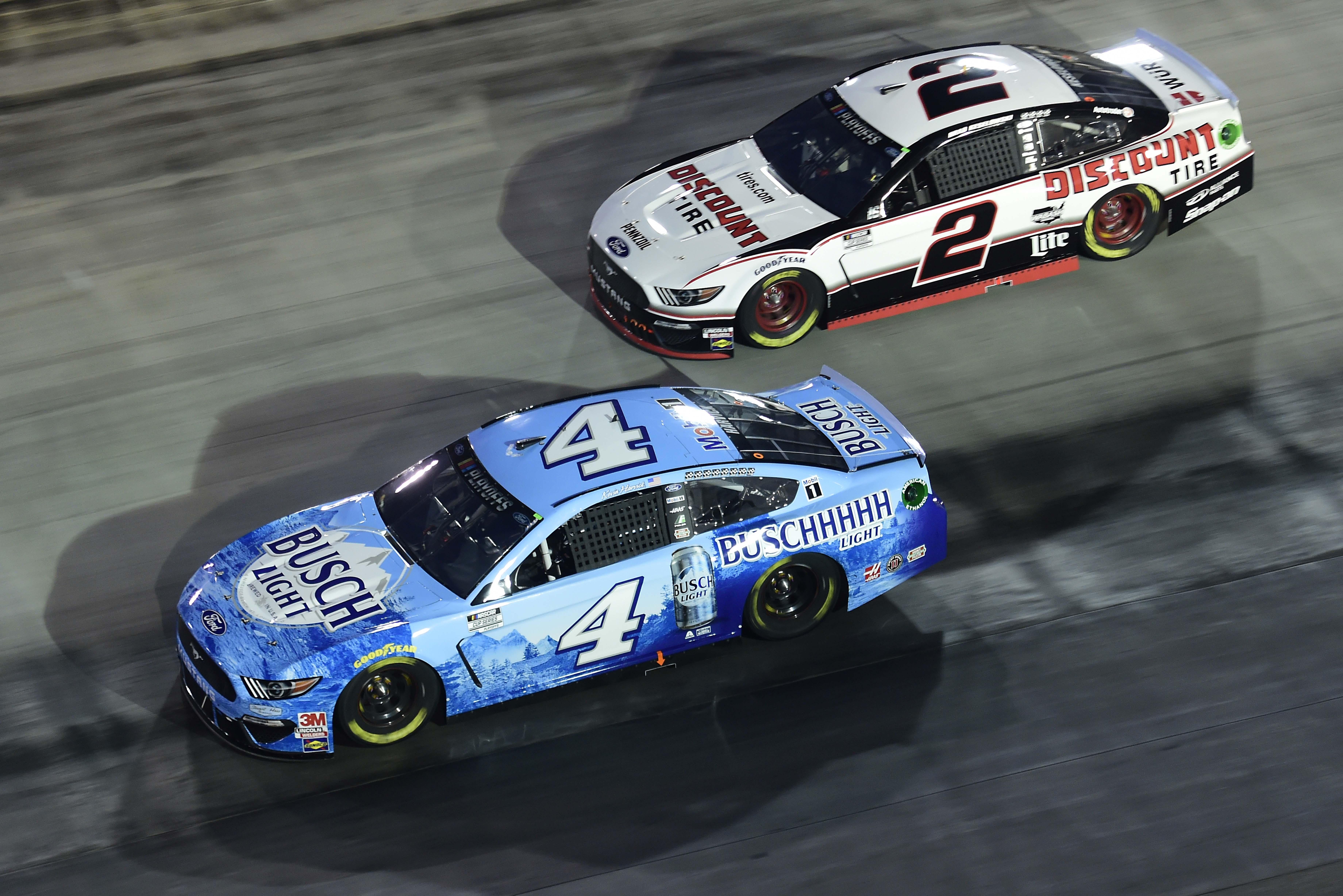 Kevin Harvick and Brad Keselowski at Bristol Motor Speedway - NASCAR Cup Series