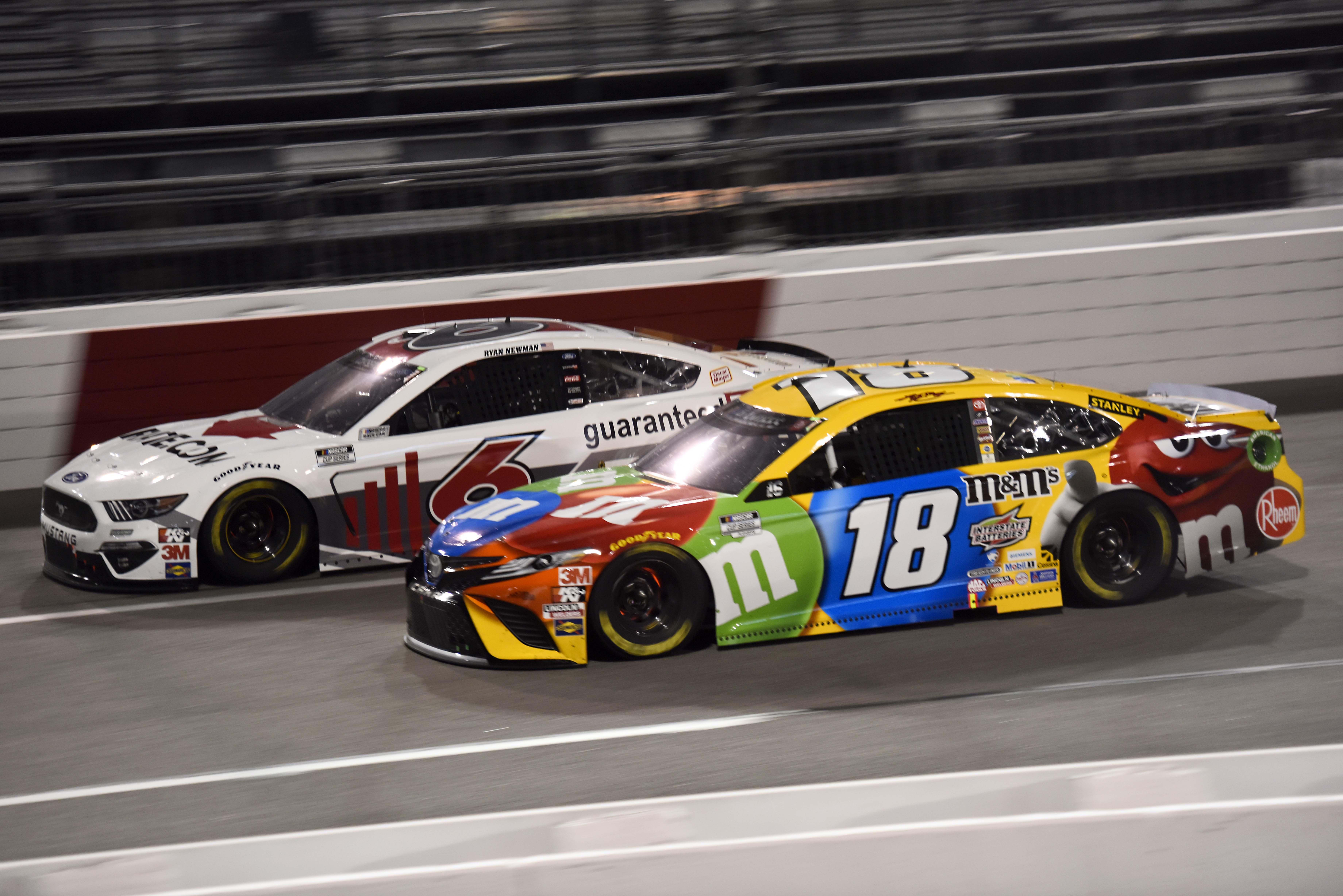 Kyle Busch and Ryan Newman at Richmond Raceway - NASCAR Cup Series