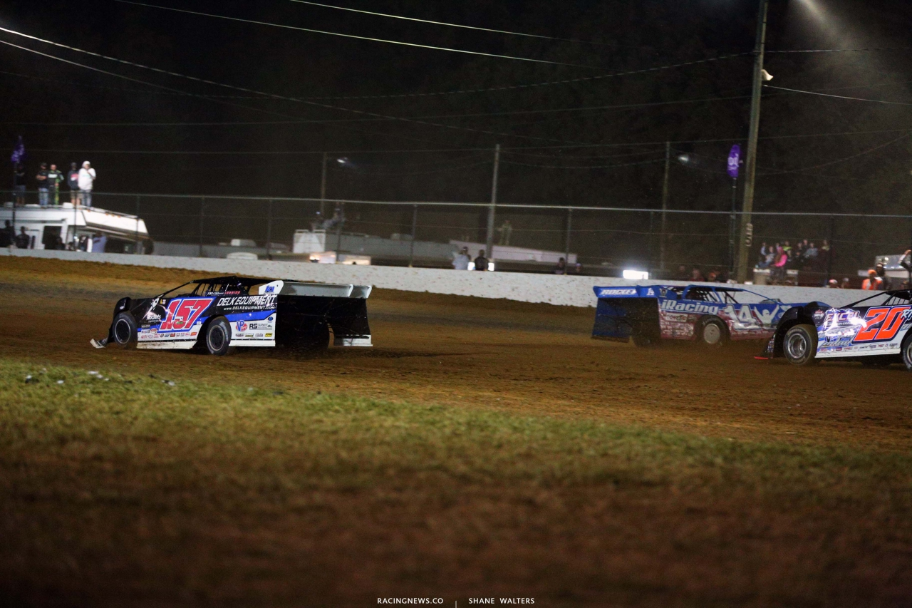 Mike Marlar and Josh Richards crash at Brownstown Speedway - Lucas Oil Series 4495