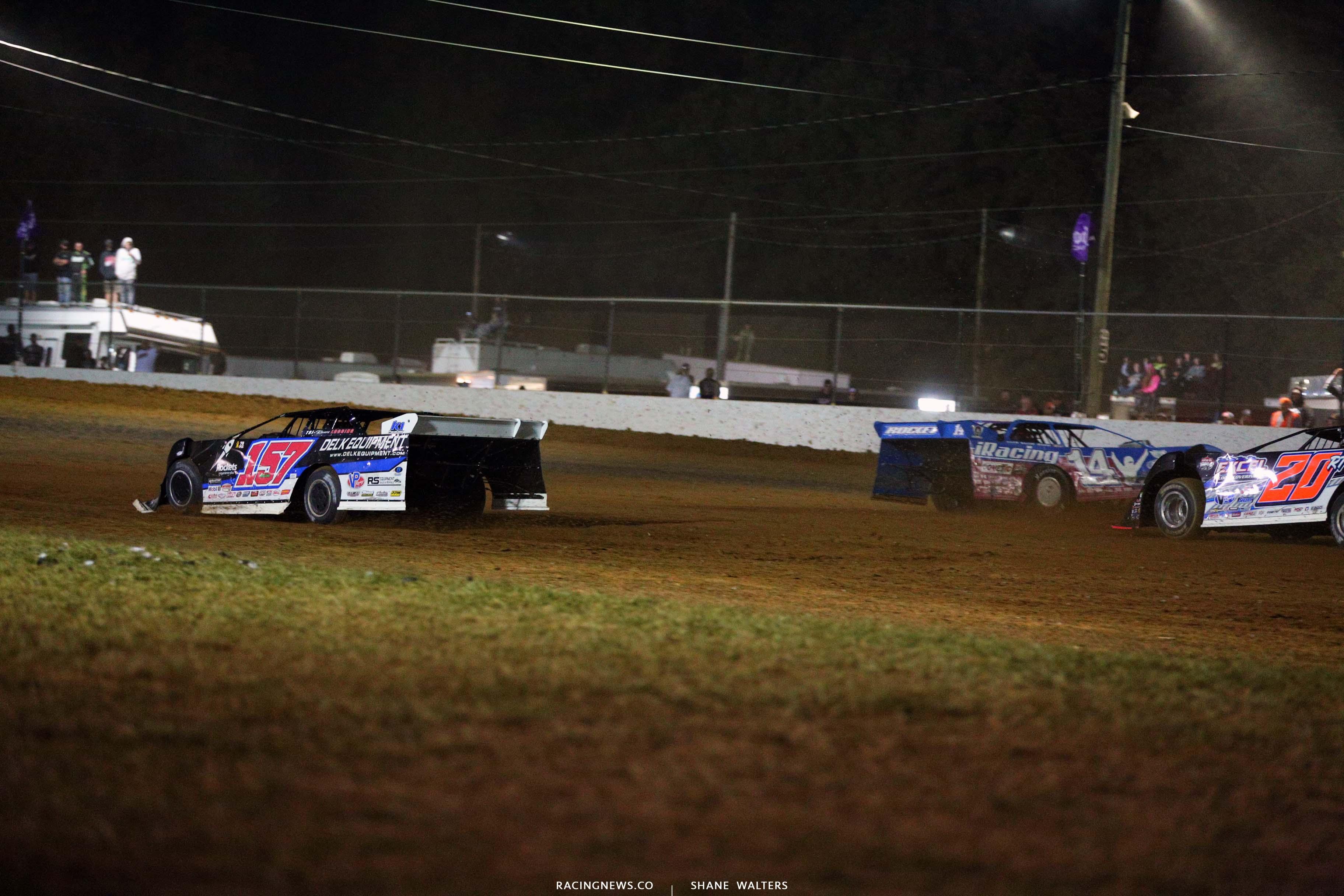 Mike Marlar and Josh Richards crash at Brownstown Speedway - Lucas Oil Series 4495