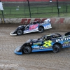 Mike Marlar and Kyle Strickler at Eldora Speedway