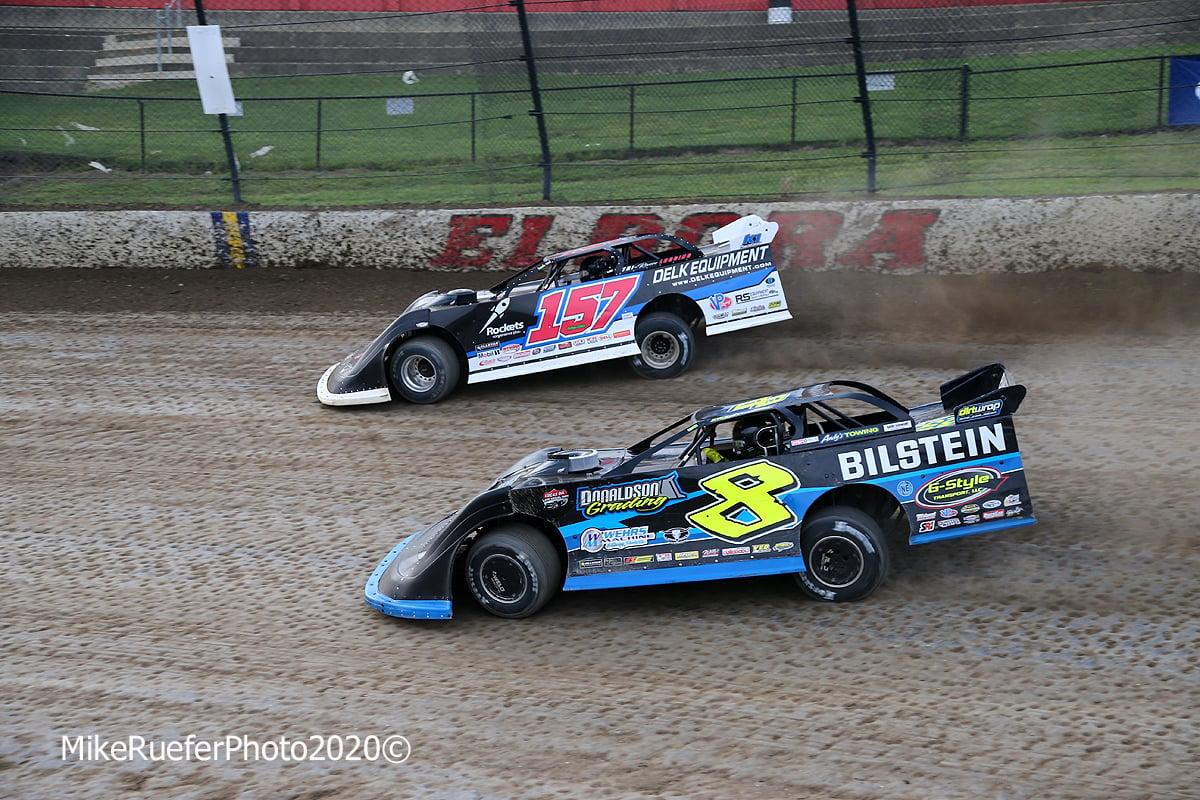 Mike Marlar and Kyle Strickler at Eldora Speedway