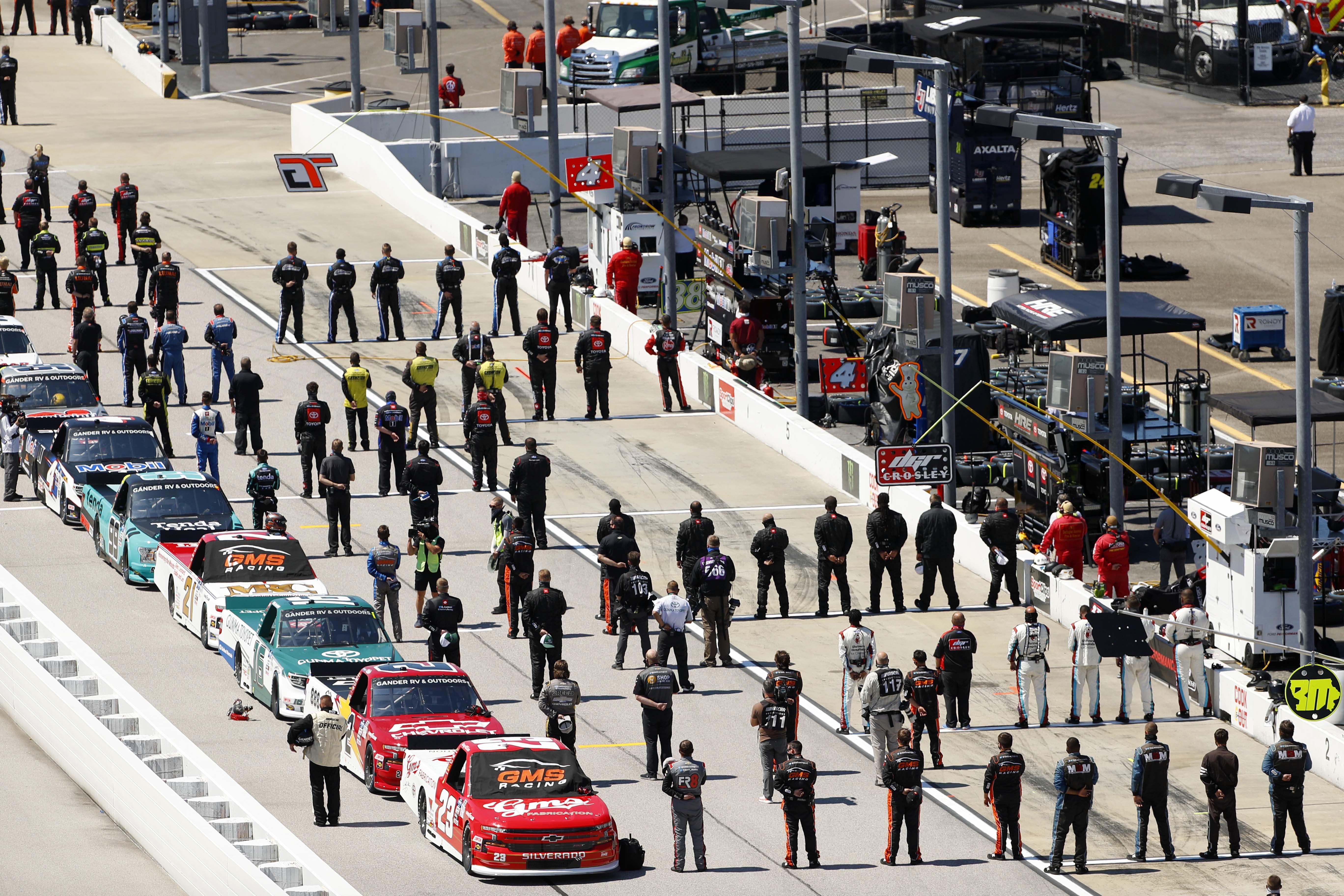 NASCAR Truck Series at Darlington Raceway - NAtional Anthem